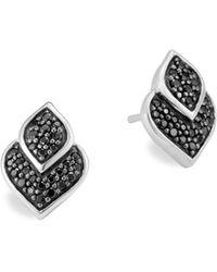 John Hardy - Sterling Silver Legends Naga Black Sapphire And Black Spinel Stud Earrings - Lyst