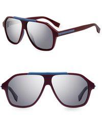 93fff0137a1 Lyst - Fendi Ff 0224 s Blue Round Sunglasses in Blue for Men