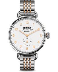 Shinola - Canfield Two-tone Stainless Steel Bracelet Watch - Lyst