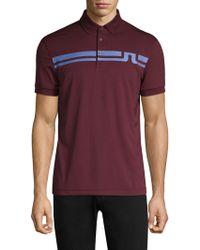 J.Lindeberg - Golf Eddy Slim-fit Logo Polo - Lyst