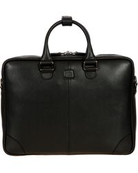 Bric's - Varese Business Saffiano Leather Small Briefcase - Lyst