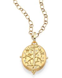 Temple St. Clair - Tree Of Life Diamond & 18k Yellow Gold Locket - Lyst