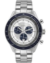 Givenchy | Eleven Stainless Steel Chronograph Watch | Lyst