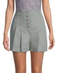 Rebecca Taylor - Seamed Linen Shorts - Lyst