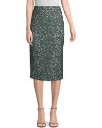 Piazza Sempione - Lace And Stripe Pencil Skirt - Lyst