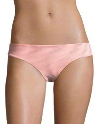 Onia - Lily Striped Seersucker Bikini Bottom - Lyst