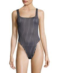 Same Swim - Goddess One-piece Striped Swimsuit - Lyst