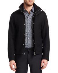 Emporio Armani - Regular-fit Wool-blend Shirt Jacket - Lyst