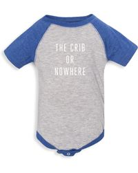 Knowlita - Baby's The Crib Or Nowhere Raglan Bodysuit - Lyst