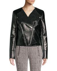 Michael Kors - Michael Petite Faux-shearling Jacket - Lyst