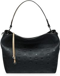994625dd0 Mcm Klara Monogram Large Leather Hobo in Black - Lyst