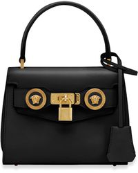 62e9884ce4 Versace - Small Icon Leather Top Handle Bag - Lyst