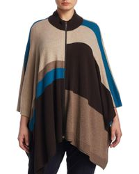 Basler - Colorblock Poncho - Lyst