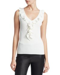 Saks Fifth Avenue - Collection Ruffled Trim Top - Lyst
