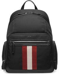 Bally - Stripe Patch Canvas Backpack - Lyst