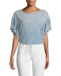 AG Jeans - Shannon Fringe Denim Top - Lyst