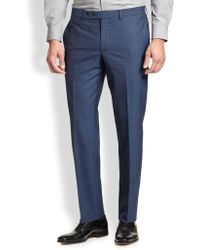 Saks Fifth Avenue - Modern-fit Wool Trousers - Lyst
