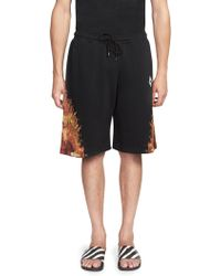 Marcelo Burlon - ??lame Wing Cotton Shorts - Lyst