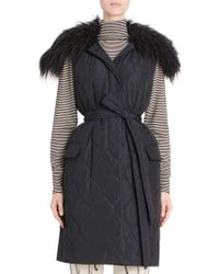 Dries Van Noten - Quilted Faux-shearling Vest - Lyst