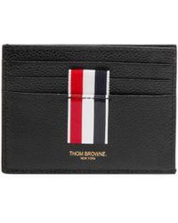 Thom Browne - Intarsia Stripe Leather Card Holder - Lyst