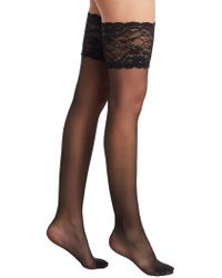 Fogal - Caresses Lace Top Stockings - Lyst