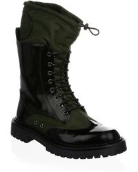 Moschino - Military Lace-up Boots - Lyst
