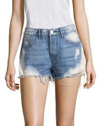 3x1 - W2 Mason Bleached Denim Shorts - Lyst
