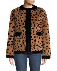 Pologeorgis - Leopard Rabit Fur Jacket - Lyst