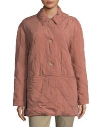 Becken - Oversized Quilted Paddock Jacket - Lyst