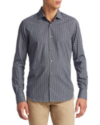 Saks Fifth Avenue - Collection Printed Cotton Button-down Shirt - Lyst