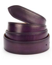 Corthay - Aubergine Patina Leather Belt - Lyst