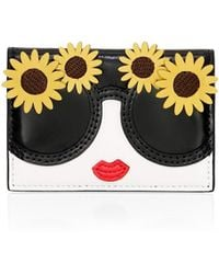 Alice + Olivia - Lexi Printed Leather Envelope Card Case - Lyst