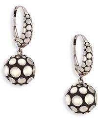 John Hardy - Dot Silver Sphere Drop Earrings - Lyst
