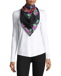 Bindya - Silk Cashmere Floral Embroidered Scarf - Lyst