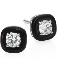 Nikos Koulis - Oui Diamond & Enamel Stud Earrings - Lyst