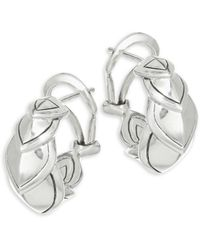 John Hardy - Legends Naga Silver Buddha Belly Earrings - Lyst