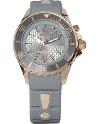 Kyboe - Power Grey Silicone & Rose Goldtone Stainless Steel Strap Watch/40mm - Lyst