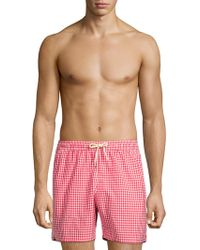 Barbour - Gingham Swim Shorts - Lyst
