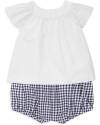 Ralph Lauren - Baby Girl's Two-piece Cotton Top & Bloomers Set - Lyst