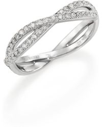 De Beers - Infinity Diamond & 18k White Gold Full Band Ring - Lyst