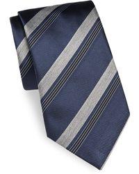 Brioni - Silk Mixed-stripe Tie - Lyst