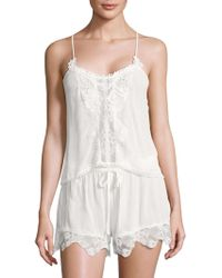 In Bloom - Kiss The Sky Lace Trim Camisole And Shorts Set - Lyst