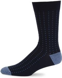 Saks Fifth Avenue - Collection Birdseye Ribbed Knit Socks - Lyst