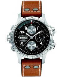 Hamilton - Khaki Aviation X-wind Auto Chrono Stainless Steel & Leather Strap Watch - Lyst
