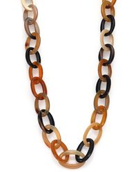 Nest - Natural Horn Long Link Necklace - Lyst