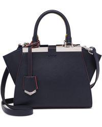 Fendi - 3jours Mini Leather Shopper - Lyst