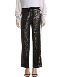 The Kooples - Wide Leg Sequin Track Trousers - Lyst