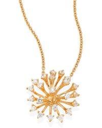 Hueb - Luminus Diamond & 18k Yellow Gold Pendant Necklace - Lyst