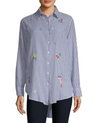 Sundry - Oversized Button-front Shirt - Lyst
