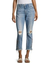 Tularosa - Hailey Straight Distressed Jeans - Lyst